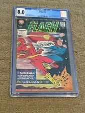 Flash 175 CGC 8.0 OW/White Pages (2nd Flash vs Superman Race from 1967!!)