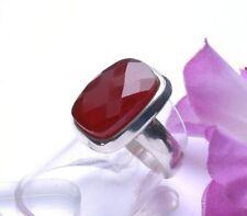 Natürliche Unisex Ringe mit echten Edelsteinen Karneol