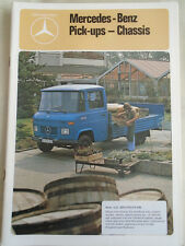 Mercedes Pick-ups Chassis Truck brochure Sep 1978