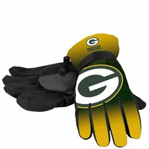 Green Bay Packers Gradient Big Logo Insulated Gloves, Small/Medium