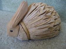 Bunny Rabbit Natural Materials Wood Head & Tail Cute