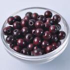100pcs 10mm Dark Red Round Natural Wood Loose Spacer Beads Wholesale Bulk Lot
