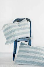 Urban Outfitters Sun Faded Stripe Blue Set of Two 2 Stand. Shams by 4040 Locust
