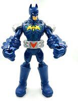 2014 Mattel DC Comic 11'  Blue Batman Red Push Button On Belt  Gloves USA Seller