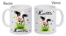 Mug (tasse) céramique Vache personnalisé avec prénom