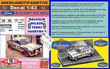 ANEXO DECAL 1/43 FORD ESCORT RS 1800 MK II ROTHMANS M.WILSON R.PORTUGAL 198 (01)