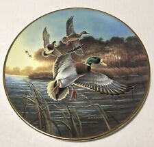 Mallards At Sunrise Plate By Lynn Kaatz Duck Unlimited W. L. George Sunlight