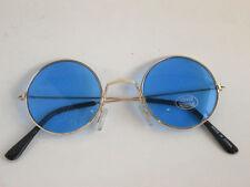 Metal Round Circle Ozzy Elton John Blue Color Tint Lennon Style Sunglasses
