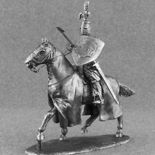 Medieval 1/32 Knight Hospitaller Cavalry Tin Miniature Figure Toy Soldiers 54mm