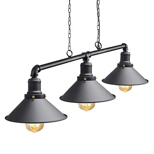 Industrial Ceiling Light Retro Steampunk Over Table 3 Pendant Lamp Hanging Metal