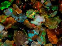 100% Natural Ethopian Opal Jumbo Fire 20 Cts Rough Lot In Loose Gemstones AA+