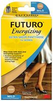 Futuro Energizing Ultra Sheer Pantyhose for Women Mild French Cut Nude, 1 Pack