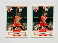 (2) 1990-91 Fleer Michael Jordan Card Lot #26, Bulls Legend! Nice!