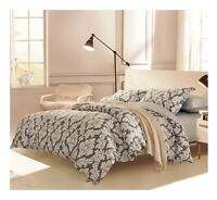 Medallion 3pc 100% Cotton Bedding Set: 1 Duvet Cover 2 Pillow Shams  Queen/King