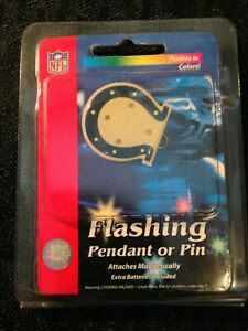 NFL Indianapolis Colts Flashing Pendant/Necklace or Pin Vintage NEW