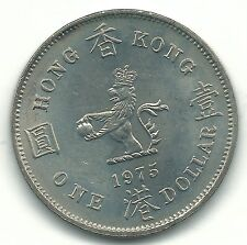 A High Grade Bu 1975 Hong Kong One (1) Dollar Coin-Jan656