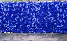 King size comforter, royal  blue velvet polyester,