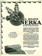 Publicité ancienne voiture automobile bougie NERKA 1926 Puybelle issue magazine