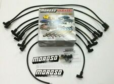 MOROSO SBC CHEVY 305 350 Spark Plug Wires HEI 90 Degree Boots (Over Valve Cover)
