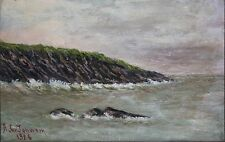 ARTHUR CLARK JOHNSON-MA Impressionist-Original Signed Oil-Massachusetts Coastal