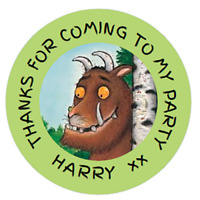 Personalised Party Bag Stickers Gruffalo x 48 Sweet Bag Seals 40mm Labels