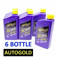 6 BOTTLES ROYAL PURPLE XPR 5W-30 RACING Motoroil 5W30 Motorenoel Motorol Oil