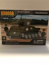 Best-Lock Construction Toys  Sherman Tank Officially Licensed by US Army  NEW