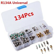 134Pcs A / C Valve Core Valves R134A Automotive Air Conditioning Assortment Kits