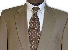 $695 Jos A Bank 100% Wool 2 Button Light Brown Suit size 43L C091