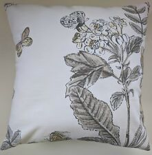 """Cushion Cover in Next Orchard Floral Butterflies Natural 16"""" Matches Curtains"""