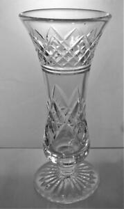 Vintage Lead Crystal Cut Glass Vase Perfect Present