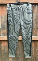Under Armour Mens Size XL Hustle Fleece Joggers Sweatpants Drawstring Grey Black