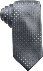 Ryan Seacrest Distinction Victor Dot Grid Men's Neck Tie Silk  Gray/white $59.50
