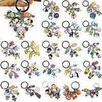 JP Charm Anime 5pcs/set Keychain Pendant Comic Character Key Metal Keyring Gifts