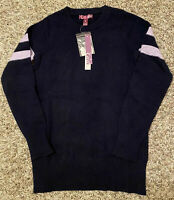 NEW AQUA Cashmere Girl's Sweater Navy Blue Size Small S $138 NWT