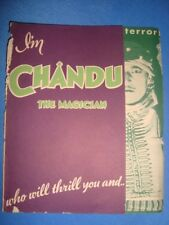 """Old vintage Hollywood Paper Movie Herald of Movie """"Chandu The Magician"""" from USA"""
