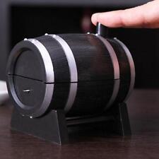 Hot Novelty Restaurant Oak Wine Barrel Shaped Automatic Toothpick Box Holder LJ