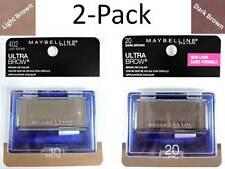 2x Maybelline Ultra-Brow Powder Dark & Light Brown Color Makeup 10/402 & 20/404