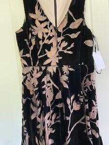 Ivanka Trump Black Velvet Dress - Size 16 (USA 14). Never Worn