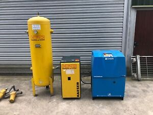 CompAir L11 10bar  rotary Screw Compressor dryer tank package Hpc atlas coco