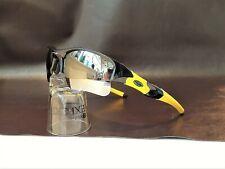 Oakley Flak Jacket XLJ POLARIZED w/Chrome Iridium Lenses & Team Yellow Socks