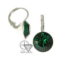 Versilberter Mode-Ohrschmuck mit Kristall-Hauptstein und Durchzieher-Verschluss