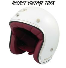 3/4 OPEN FACE VINTAGE MOTORCYCLE SCOOTER CASCO  VESPA HELMET SIZE L