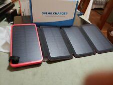 Usb solar portable external battery power bank charger