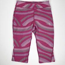The North Face Pulse Capri Leggings Girls Size L 14 16 Pink Roxbury Curvy Stripe