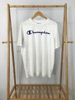 Champion Men's Big Script Spellout Double Dry Short Sleeve Athletic Shirt Size L