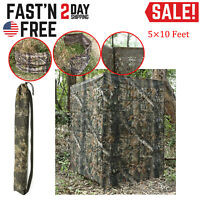 Ground Hunting Blind Portable Pop Up Camo Hunter Weather Proof Hub Concealment