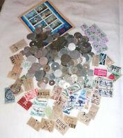 600 grammes de pièces de France + petit lot de timbres avec fiscaux