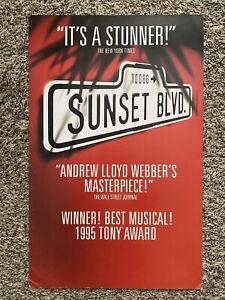 SUNSET BOULEVARD - Original Broadway Musical, Promo Window Card Poster 14x22