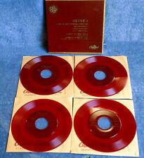 GLINKA / JACQUES  RACHMILOVICH - CAPITOL KDM 8044 - (4) 45 BOX SET - RED VINYL
